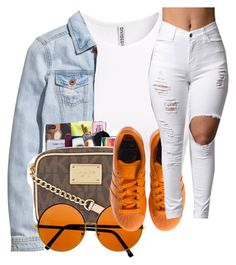 """""""Untitled #2447"""" by itzmealisia ❤ liked on Polyvore featuring H&M and adidas"""