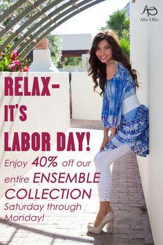Happy Labor Day! xo, Allie Ollie