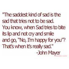 The saddest kind of sad.