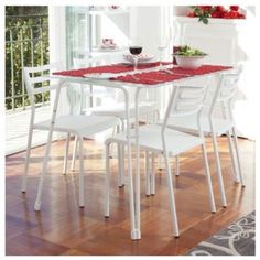 Juego de comedor 5 piezas - Sodimac.com Outdoor Furniture Sets, Outdoor Decor, Chair, Table, Home Decor, Dining Room, Chairs, Crates, Game