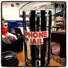 My classroom phone jail. #teachersfollowteachers #education Follow me on instagram @ MrsOrman http://instagram.com/p/hH5mV3SnaO/