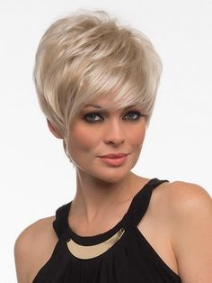 Shari | Synthetic Wig (Traditional Cap) Short Hairstyles For Women, Wig Hairstyles, Short Haircuts, Hairstyle Ideas, Wig Styles, Short Hair Styles, Short Wigs, Short Pixie, Curly Short