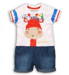 Minoti Chlapčenský overal Safari - farebný Giraffe, Safari, Overalls, Swimming, Swimwear, Baby, T Shirt, Tops, Women