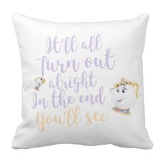 Mrs Potts & chip cushion cover