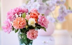 Preview wallpaper bouquet, vase, flowers, beautiful