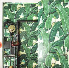 Waan je in de jungle met het Martinique Banana Leaf wallpaper van Hinson Roomed   roomed.nl