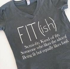 Fitish T-shirt, T-shirt d'entraînement, col en v, semi- coupe, drôle d'entraînement Tops, les amateurs de cuisine, adapter à la vie, drôle, chemises avec des paroles