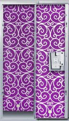 Pretty locker accessories are a back-to-school must have, and this glittery, purple scroll locker wallpaper from Locker Lookz will turn your boring school locker into a fun place to stash your stuff! | Locker Lookz Purple Glitter Scroll Locker Wallpaper | BettesGifts.com | $19.99