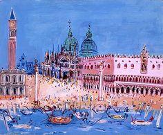 Jean Dufy - Venise, le palais des Doges Huile sur toile 50 x 61 cm Signée en bas à droite Exécutée vers 1955-57