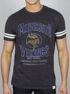 Junk Food Clothing s Vintage NFL Minnesota Vikings Tee. ( 38) Vikings  Football 27e866d2c