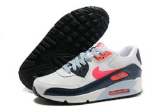 e6dde4bbbb89c2 White Atomic Red Armory Navy Light Armory Nike Air Max 90 2007 (GS) Shoes