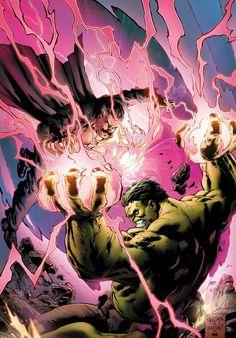 Hulk (Dr. Bruce Banner) (Savage Hulk persona) vs. Dr. Strange (Dr. Stephen Strange) | art by Carlo Pagulayan