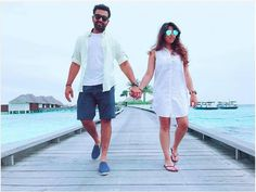 Rohit Sharma with his wife Ritika Sajdeh in Maldives  For more cricket fun click: http://ift.tt/2gY9BIZ - http://ift.tt/1ZZ3e4d