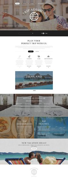 Template 54968 – Travel Agency Responsive Website Template with Parallax, Image Slider, Icon and Image Animation