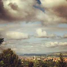 Morning ~ 8 o'clock light #hills, #atribeadayjune, #photoadayjune, #saintgenestlerpt, #france, #morning, #loire, #view - @din0u- #webstagram