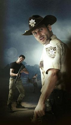 The walking dead Shane Walsh with Rick Grimes The Walking Dead 2, Walking Dead Series, Walking Dead Zombies, Rick Grimes, Andrew Lincoln, Walking Dead Wallpaper, Printable Poster, Keys Art, My Sun And Stars