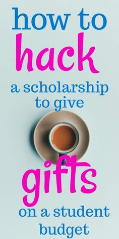 A Guide to Hacking a Scholarship for Giving Gifts - Student Loans Ways To Save Money, Money Saving Tips, Finance Organization, Budgeting Finances, Financial Tips, Student Loans, Hacks, College, Gifts