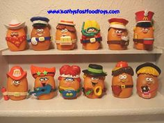 mcdonalds mcnugget toys... I had these!!!