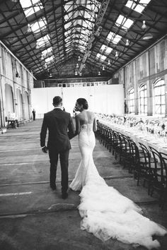 Mat & Alicia: Chic Warehouse Wedding / Real Wedding / Photographed by Courtney Illfield / View full post on The LANE