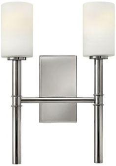 Margeaux Modern Nickel 17 3/4-Inch-H Hinkley Wall Sconce - #EU2X521 - Euro Style Lighting  2   100 watt bulbs