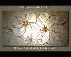 Serenity48x24 Large Contemporary Modern Art Palette by lynnhoyland, $1400.00