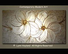 Serenity48x24 Large Contemporary Modern Art Palette by lynnhoyland, $1400.00