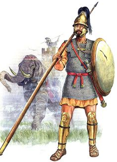 Carthaginian Libby Phoenician infantryman. The mail armour may have been taken from a Roman adversary but mail was produced by Carthage and could have been issued.