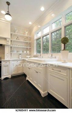 Traditional Kitchen Photos White Kitchen Design, Pictures, Remodel, Decor and Ideas - page 7 Kitchen And Bath, New Kitchen, Kitchen Ideas, Kitchen Layout, Kitchen Sinks, Kitchen Designs, Kitchen White, Awesome Kitchen, Kitchen Photos