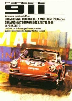 "Sketchbook historic cars Pictures: PORSCHE 911 ""victorieuse"""