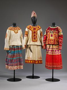 """¤ Nikolai Roerich (designer), costumes for female dancers in The Rite of Spring, Museum nos. and // Nicolas Roerich, costumes pour des danseuses dans """"le Sacre du Printemps"""" Theatre Costumes, Ballet Costumes, Dance Costumes, The Rite Of Spring, Nicholas Roerich, Female Dancers, Russian Ballet, Matisse, The V&a"""