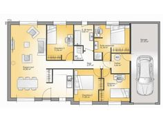 delightful plans de maison modle family maison traditionnelle de plain pied de 110m2