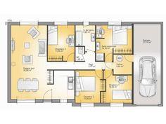 Plans De Maison : Modèle Family : Maison Traditionnelle De Plain Pied De  110m2.