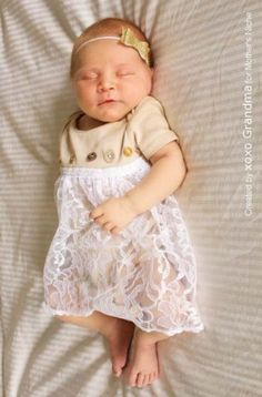 Dye baby onesies with tea and add lace for a DIY vintage outfit.