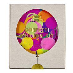 Toot Sweet Confetti Balloon Kit - room decorations