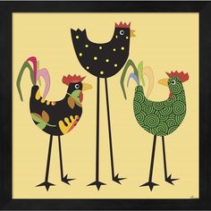 Michelle Glennon 'Chickens Incognito 1' Framed Art