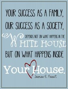 your success as a family is up to you, not the white house. | www.livecrafteat.com
