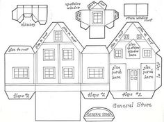 Image result for Victorian Putz House Templates