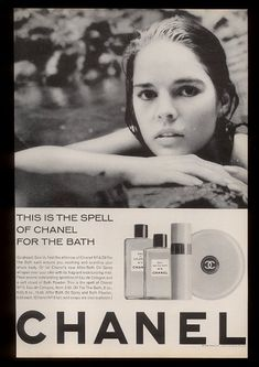 Chanel advert from the 60s/70s. The large brand name at the bottom is enough to…