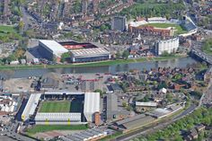 Notts County FC, Nottingham Forest FC and Trent Bridge Cricket Ground all in one shot. Notts County Fc, Nottingham Forest Fc, Nottingham Trent University, Forest City, County Seat, Southport, Aerial View, Paris Skyline, Dolores Park