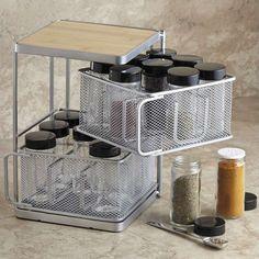 Fancy - Lipper 2-Tier 18-Bottle Square Spice Tower