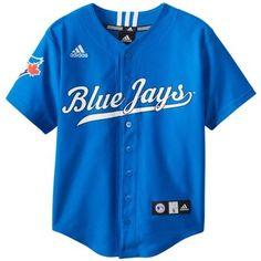 MLB Toronto Blue Jays Boy's Screen Printed Team Color Baseball Jersey:Amazon:Sports & Outdoors
