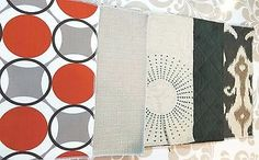 Fabric Upholstery Samples 18 x 12 lot of 5