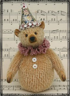 mohair bear designed and made by Land Of Nod Stuidos