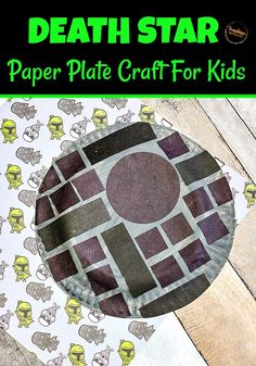 This death star paper plate craft for kids is super cool! It's not scary at all. Even the youngest of Star Wars fans will enjoy making this EASY craft. Find out just how we did it. Then, it will be easier when you sit down with your child to make this amazing death star paper plate craft. #crafts #craftsforkids #kidscrafts #easycrafts #craftsforkidstomake Paper Plate Crafts For Kids, Crafts For Kids To Make, Diy Arts And Crafts, Disney Activities, Activities For Kids, Toddler Crafts, Kid Crafts, Preschool Crafts, Star Wars Crafts