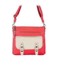I LOVE the new Kinley Bag in coral with the new Lynn clutch! Great Spring look!