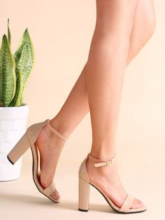 e8c55af373d To find out about the Nude Patent Leather Open Toe Ankle Strap Heeled  Sandals at SHEIN