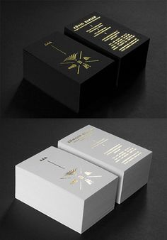 A Collection Of Elegant Business Cards With Gold Designs - Graphic Files Foil Business Cards, Luxury Business Cards, Black Business Card, Elegant Business Cards, Design Typo, Branding Design, Identity Branding, Corporate Design, Brochure Design