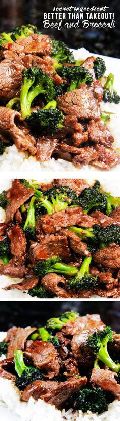 This really is the best broccoli beef I have ever eaten. Tender slices of beef that are SO juicy, SO flavorful as they soak up every savory essence of the marinade and the rich, savory sauce. BEST I'VE EVER HAD! Think Food, I Love Food, Good Food, Yummy Food, Tasty, Asian Recipes, Beef Recipes, Cooking Recipes, Healthy Recipes