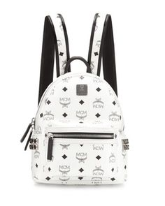Stark+Side-Stud+Mini+Backpack,+White+by+MCM+at+Neiman+Marcus.