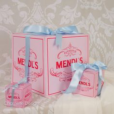 The Grand Budapest Hotel Mendl's Patisserie boxes by chamelledesigns